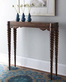 """Ambella """"Clara"""" Console (via Horchow).  This console might actually be narrow enough (at 9"""") to fit in my teeny apartment!"""