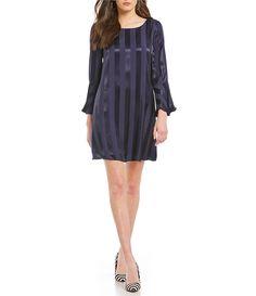 d6034b6c23 MICHAEL Michael Kors Matte Jersey Lace Trim Bell Sleeve Shirred Neck ...