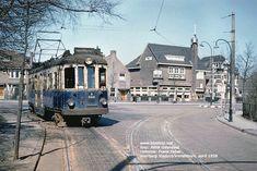 Blauwe Trams in de keerdriehoek Vronesteyn bij Voorburg Viaduct