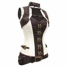 Steampunk Funk Steampunk clothing quality Brocade steel boned Corset jacket