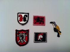 Vintage Sew on Appliques Family Crests by TheDearestDollhouse, $8.00