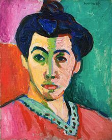 Fauvism: The artist uses colour to show detail in the drawing. He uses texture to show the dark sides on his face.