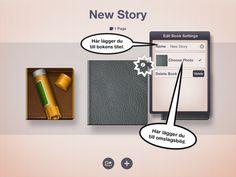 Story Creator- Skapa en bok med stillbild, rörlig bild, ritade bilder, text och ljud – och det är lätt att göra. En finess i appen är  att man kan få den skriva texten markerad vartefter den läses upp.