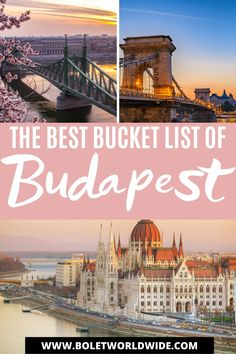 Bucket lists are amazing and here I bring you a Budapest bucket list of all the amazing places to visit, things to do in Budapest, Budapest food you should try. It's a perfect Europe travel bucket list and a family bucket list. Budapest, Hungary is a beautiful place that must be on your trip to Europe. Europe Travel Outfits, Europe Travel Guide, Europe Bucket List, Bucket Lists, Cool Places To Visit, Places To Travel, Budapest Travel Guide, Hungary Travel, Budapest Hungary