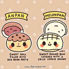 anpan vs melonpan 1
