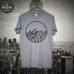 Geometric Sky T-Shirt Modern Minimalist by Pointofviewshop on Etsy