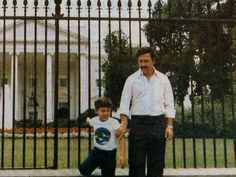 Pablo Escobar & his son