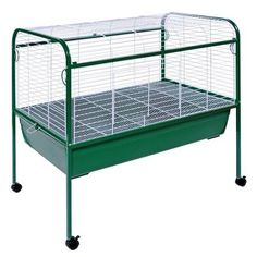 Prevue Hendryx 520 Small Animal Pet Cage  Carrier With Stand And Roll Caster >>> To view further for this item, visit the image link.