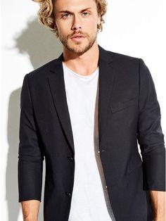 GUESS Men's Miller Shine Skinny Blazer  Men Fashion #ad