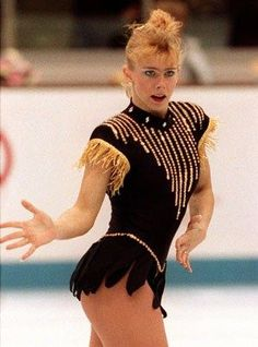 Tonya Harding back in the day. Tonya Harding, Ice Skating, Figure Skating, Athlete Costume, Crimes And Misdemeanors, Olympic Sports, Latest Sports News, Funny Animal Videos, Portrait Inspiration