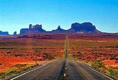 Highway 163,  towards Utah's Monument Valley