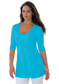 Pleated Tunic | Plus Size Buy 1 Top, Get 1 FREE | Jessica London