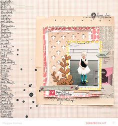 maggie holmes.   love the journaling down the side. love the wooden diecut & mix of papers.