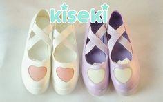 Heart Platform Shoes - Fairy Kei, Pop Kei, Sweet Lolita, Harajuku - FREE SHIPPING · Kiseki · Online Store Powered by Storenvy