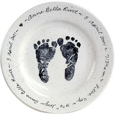 Baby Feet Birth Plate