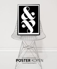 Poster met Poster Online, Symbols, Letters, Shed Houses, Icons, Letter, Calligraphy