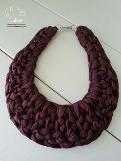 Collana collana crochet collana in tessuto di Lulaor su Etsy