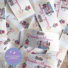 Label Design, Logo Design, Clothing Labels, Couture, Slogan, Creations, Tags, Sewing, Tableware