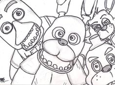 mangle golden freddy face fnaf coloring pages printable and coloring book to print for free. Find more coloring pages online for kids and adults of mangle golden freddy face fnaf coloring pages to print. Fnaf Coloring Pages, Farm Animal Coloring Pages, Coloring Sheets For Kids, Coloring Books, Colouring Sheets, Kids Coloring, Five Nights At Freddy's, Little Doodles, Fnaf Drawings