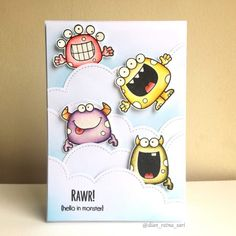 Silly Monsters stamp set - Your Next Stamp