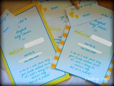 here's a story.... book baby shower.  I like the invite wording. want to make sure guests bring a gift and a book instead of a card. other wording seems like its only a book they will bring....