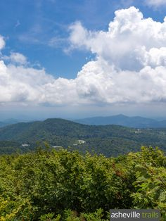 Hike to the Mt Pisgah summit for beautiful views of Cold Mountain and Asheville on the Blue Ridge Parkway
