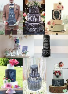 Chalkboard Wedding Cakes Mood Board from The Wedding Community