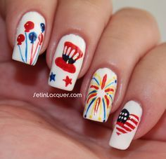 Fourth of July | Patriotic Nail Design on Pinterest | 4th Of July ...