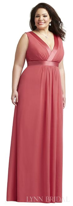 Love boho? This luxe chiffon plus size bridesmaid dress features a ...