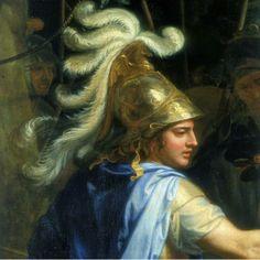 Alexandre,o Grande, com apenas 20 anos,  rei da Macedônia. Para conquistar tal feito, mesmo tão jovem, concebeu novas estratégias militares. Com ataques pelos flancos, derrotava exércitos muito maiores que os seus. Inventou novas armas e aperfeiçoou outras, como a sarissa (uma lança com 7 metros de comprimento). Não se detinha em nenhum obstáculo e chegou a criar uma ponte de um quilômetro de extensão sobre o mar para transportar torres de cerco, que foram usadas para invadir a ilha de Tiro.