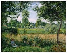 Morning Sunlight Effect, Eragny, 1899 Giclee Print by Camille Pissarro at Art.com