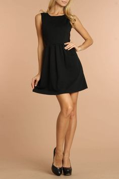 Great holiday little black dress!