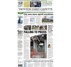 The front page of the Taunton Daily Gazette for Tuesday, Sept. 30, 2014.