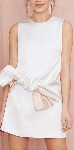bow front dress. bisous @natchai