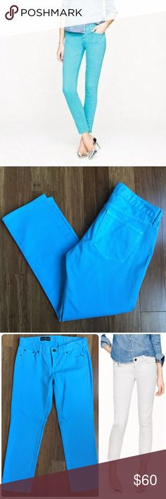 J.Crew matchstick cropped jeans in blue sz 29. NWT J.Crew matchstick cropped jeans in blue. NWT! Size: 29. Inseam: 26 inches. Waist: 15.5 inches. Rise: 8 inches. Brand new. Pretty aqua blue color. (Modeled pics via jcrew.com) J. Crew Jeans Ankle & Cropped
