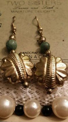 Vintage silver dangle pierced earrings signed Two Sisters NWT Pierced Earrings, Pearl Earrings, Drop Earrings, Two Sisters, Retro Costume, Vintage Silver, Dangles, Ebay, Jewelry
