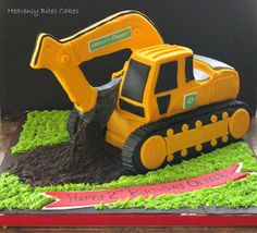 Toddler Birthday Cakes, Man Birthday, Birthday Ideas, Excavator Cake, Digger Party, Man Cake, Construction Party, Cakes For Men, Confectionery