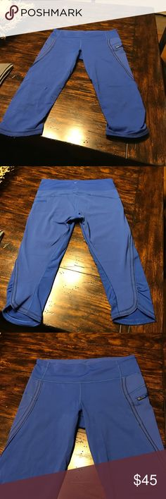 Lululemon Athletica Lululemon Athletica crops size 8, very bad lighting. Color is much darker then picture is a royal Blue. lululemon athletica Pants