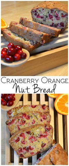 Cranberry Orange Nut Bread | Sweet, tart & delicious | www.craftycookingmama.com