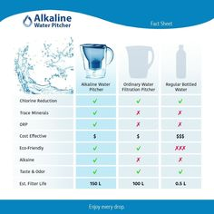Lake Industries Premium Great Tasting Alkaline Water Pitcher with Filter Patented 7 Stage System is The Clear Choice to Purify Water & Remove Acidity - Liters Best Alkaline Water, Alkaline Water Pitcher, Alkaline Water Filter, Benefits Of Alkaline Water, Carbon Water Filter, Best Water Filter, Water Filter Pitcher, Ion Exchange Resin, Water Waste