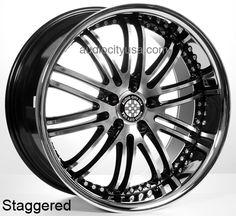"""20""""22"""" XIX Wheels Rims X23 BM for Mercedes Benz Audi  #AudioCity"""