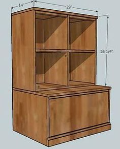 Plans to build the Pottery Barn Cameron cubby system myself, for Austin's playroom.
