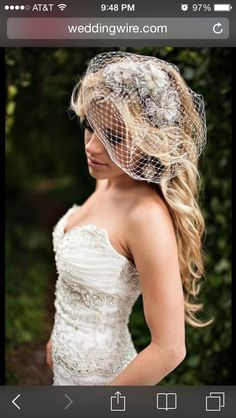 Wedding hair love the birdcage