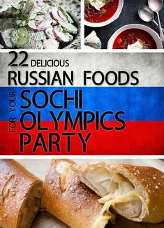 22 Delicious Russian Foods For Your Sochi Olympics Party (I'm not planning an Olympic party but all these recipes sound so delicious, I'll pin this for future reference! Ukrainian Recipes, Russian Recipes, Croatian Recipes, Hungarian Recipes, Ukrainian Food, Beef And Mushroom Stew, Russian Party, Great Recipes, Gastronomia