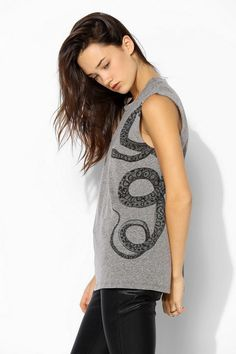 Truly Madly Deeply Snake Muscle Tee #urbanoutfitters
