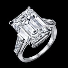 65e87a7c8583 10 62 ct GIA I emerald cut baguette diamond engagement 3 stone ring  platinum. ecommerce tienda Online