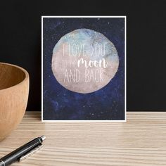 Moon and Back Sign Love You to the Moon Nursery Sign Kids Room Decor Lunar Art Galaxy Art Ethereal Celestial Moon Nursery Decor Modern Nursery Decor, Baby Room Decor, Nursery Ideas, Floating Shelves By Fireplace, White Kids Room, I Love You Signs, Moon Nursery, Animal Rug, Galaxy Art