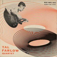 Tal Farlow Quartet, Blue Note LP 5042, 1954, cover design by Bill Hughes