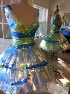 Plastic bag ballerina dress