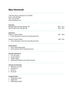 Self Assessment  Resume Format    Template And Microsoft